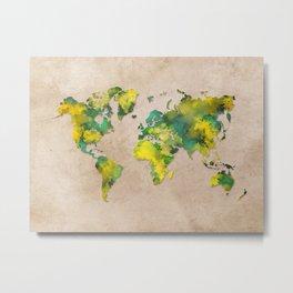 World Map 2040 Metal Print
