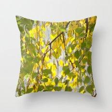 Birch Leaves 7165 Throw Pillow