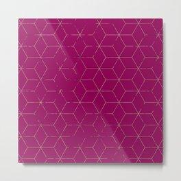 Cubed 3dPink Metal Print