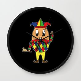 Jester Egg Wall Clock