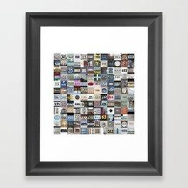 NUMBERS - San Francisco Framed Art Print