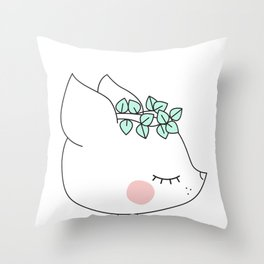 Deer little dreamer Throw Pillow