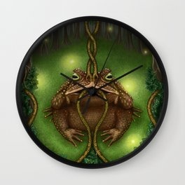 The Toad of Clairvoyance Wall Clock