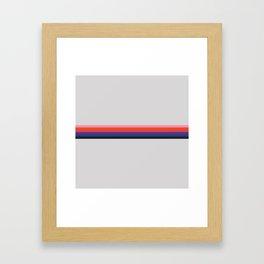 Retro Stripes 07 Framed Art Print