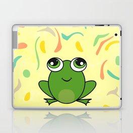 Cute frog looking up Laptop & iPad Skin