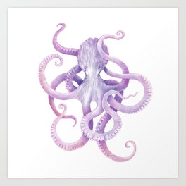 Octopus colour Art Print