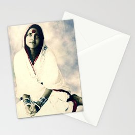 Sri Ma Anandamayi - Hindu Saint - for Blessings and Protection Stationery Cards