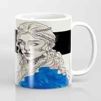 mother of dragons Mugs featuring Mother Of Dragons by Fatma Sahem