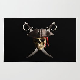 Pirate Skull And Swords Rug