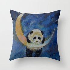 Panda Stars Throw Pillow