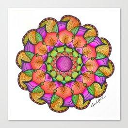 Watercolor Mandala #11 - Original Canvas Print