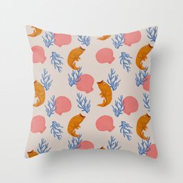 Swimming in the Shallows  Throw Pillow