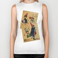 over the garden wall Biker Tanks featuring Over The Garden Wall by Dasha Borisenko