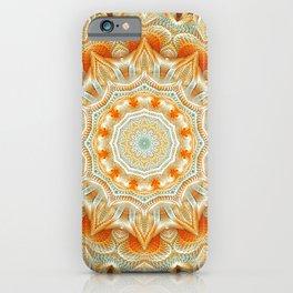 Flower Of Life Mandala (Marmalade Sky) iPhone Case