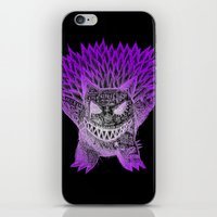 gengar iPhone & iPod Skins featuring scratchy gengar  by cavia
