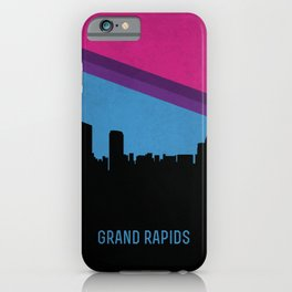 Grand Rapids Skyline iPhone Case