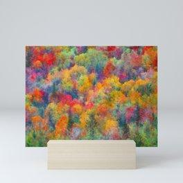 Autumn forest Mini Art Print