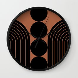 Abstraction_BLACK_LINE_PATTERN_PRIMITIVE_ART_001A Wall Clock