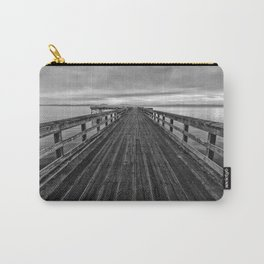 Bevan Fishing Pier - Black and White Carry-All Pouch