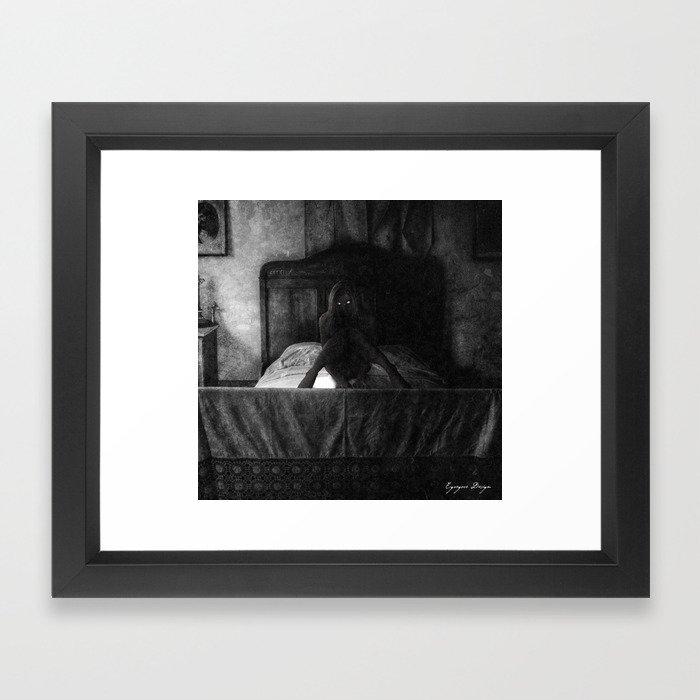 Dark Victorian Portraits: The Honeymoon is over Framed Art Print