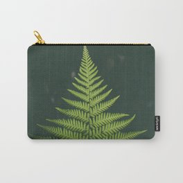Fern Leaf Green Carry-All Pouch