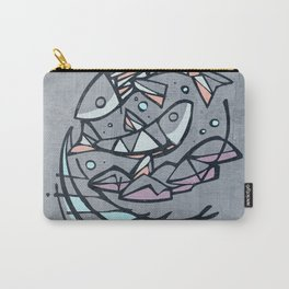 Five breads and two fishes, religious illustration Carry-All Pouch