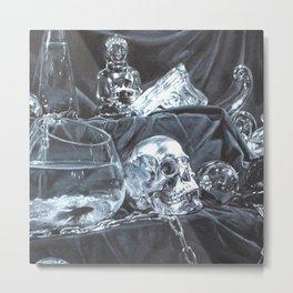 Fish & Bones Metal Print