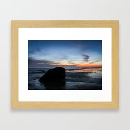 Sunset Handry's Beach Framed Art Print
