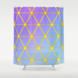 Cosmic Geometry Shower Curtain