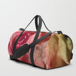 Extra veins on a rose Duffle Bag