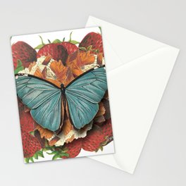 Blue Moth Stationery Cards