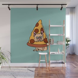 Pizza Frenchie Wall Mural