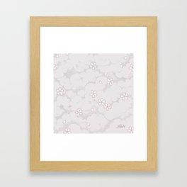 Kumori Nochi Sakura: Pink Framed Art Print
