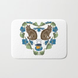 Coffee and Cats Bath Mat