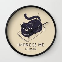 louis Wall Clocks featuring impress me by Louis Roskosch