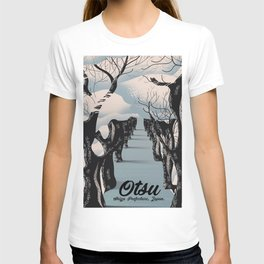 Otsu Shiga Prefecture Japan travel poster print T-shirt