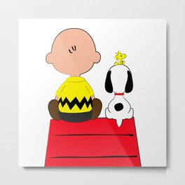 Snoopy's Red House Metal Print