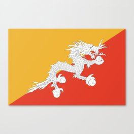 Flag of bhutan-,Bhutan, Himalaya, South Asia,Bhutanese, bhoutan, bhoutanais, dragon Canvas Print