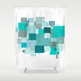 {50 Shades of Teal} Shower Curtain