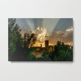 Sunset at village Metal Print