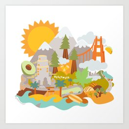 Cali Love Art Print