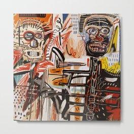 A vectorised Basquiat Metal Print