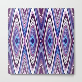 Abstract Mod Blue, Pink and Purple Design 635 Metal Print