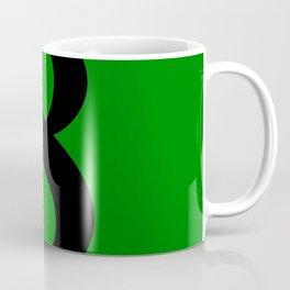 8 (BLACK & GREEN NUMBERS) Coffee Mug