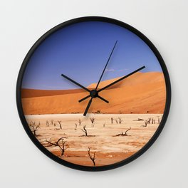 Amazing Deadvlei in Namibia Wall Clock