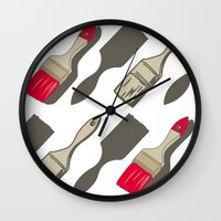 tool Wall Clocks featuring Tool Time by Pattern Design