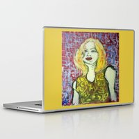 emma stone Laptop & iPad Skins featuring EMMA by JANUARY FROST