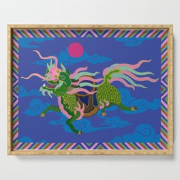 Colourful Animal Kirin Decoration Serving Tray