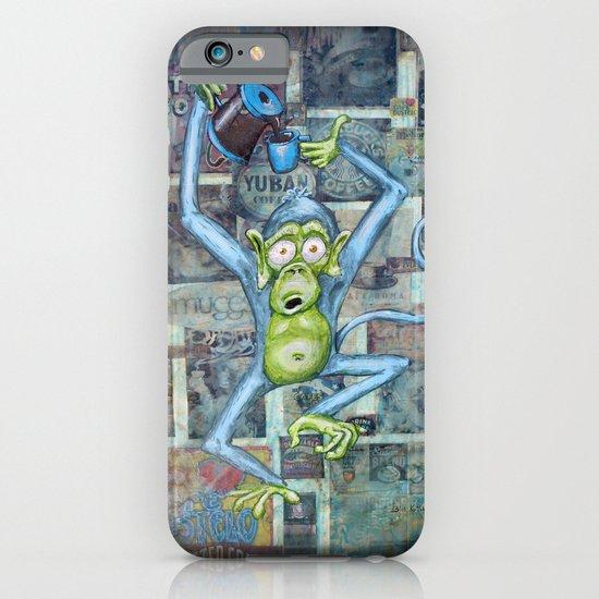 Rebecca's Coffee Drinking Monkey iPhone & iPod Case