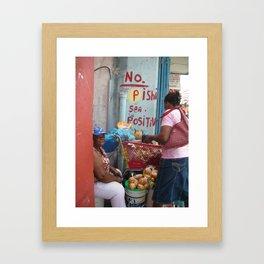 Stay Positive, Don't Pee. Framed Art Print